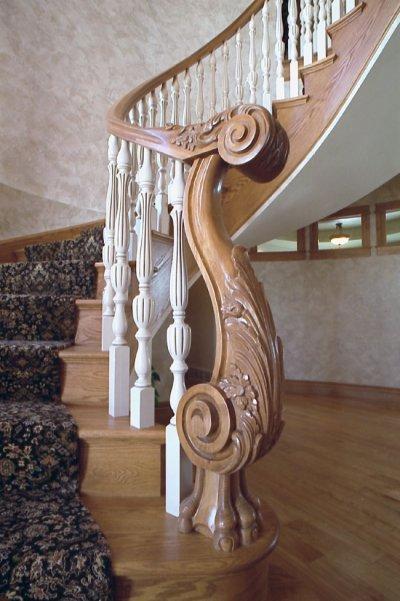 Перила для лестницы из дерева - Строительный портал