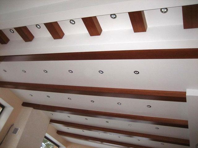 Потолочные балки из гипсокартона